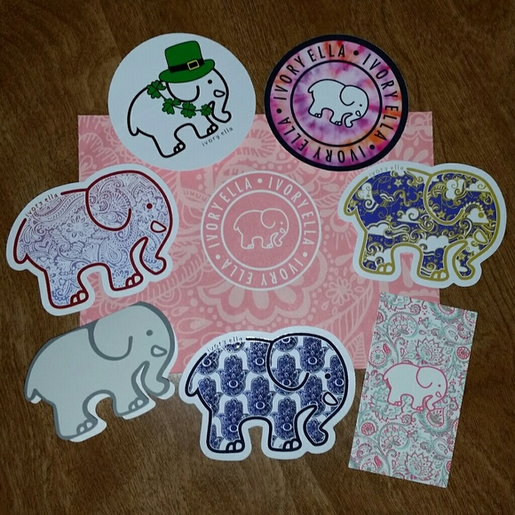 cec444449 Ivory Ella Stickers and Authenticity Tags